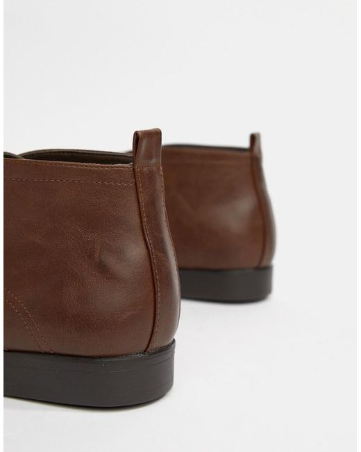 discount best wholesale cheap sale for nice New Look Smart Chukka Boot In Dark Brown free shipping largest supplier cheap sale under $60 RvWmhv1fT