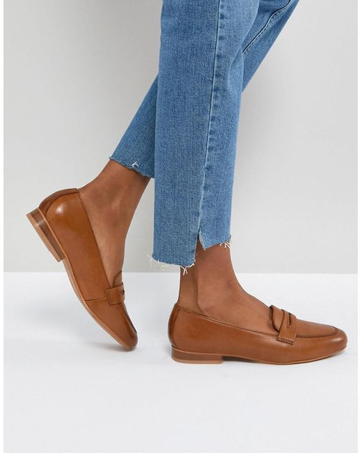 ASOS - Brown Manhatten Leather Loafers - Lyst