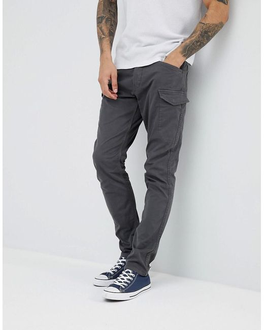 Esprit - Gray Tapered Fit Cargo Pants for Men - Lyst ...