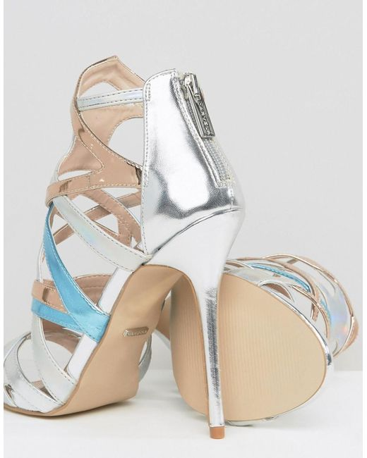 Gum Metallic Multi Strap Heeled Sandals - Silver Carvela Cheap Price Low Shipping Fee Cheap Latest Buy Cheap Genuine Release Dates Online Mh3XN8