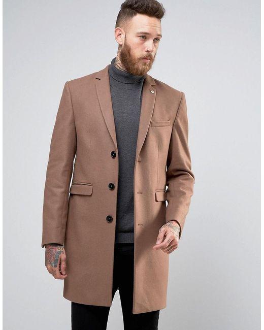 noose and monkey overcoat tan in brown for men lyst. Black Bedroom Furniture Sets. Home Design Ideas