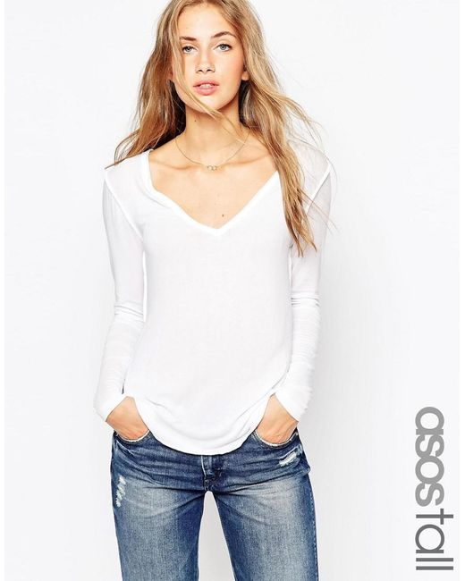 ASOS | White Tall The New Forever T-shirt With Long Sleeves | Lyst
