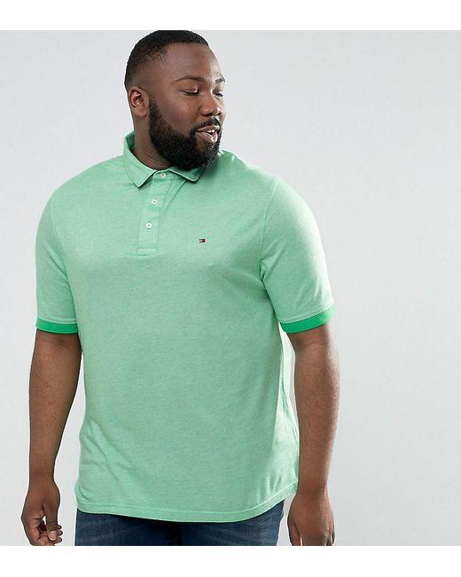 Tommy Hilfiger | Plus Boris Polo Slim Fit Flag Logo In Green for Men | Lyst