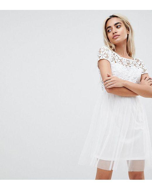 Vero Moda Lace Prom Dress in White - Lyst