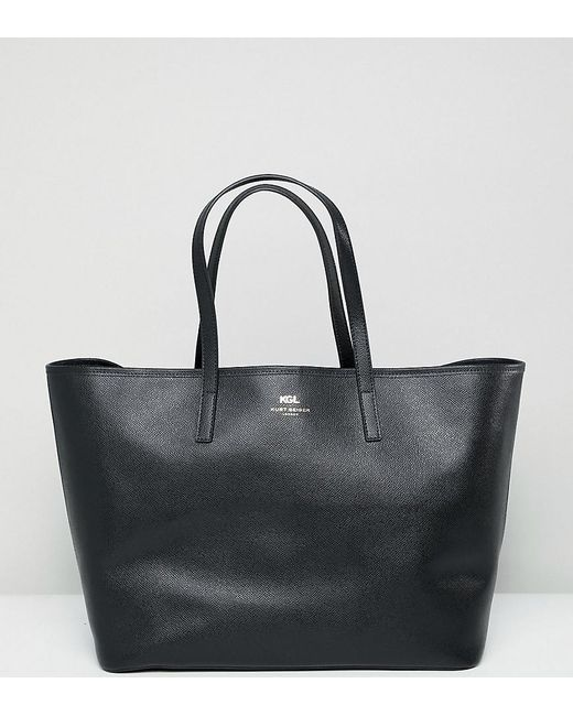 Kurt Geiger - Black Kurt Geiger Saffiano Leather Tote Shopper Bag - Lyst