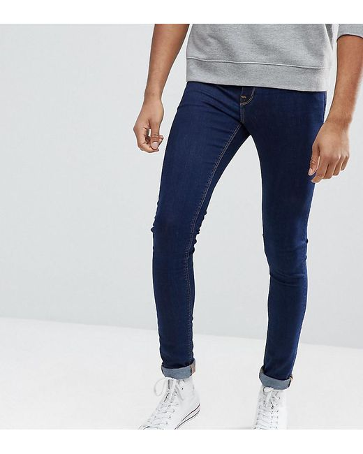 ASOS - Asos Tall Extreme Super Skinny Jeans In Raw Blue for Men - Lyst