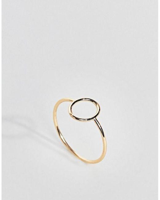 ASOS - Metallic Design Open Oval Ring - Lyst