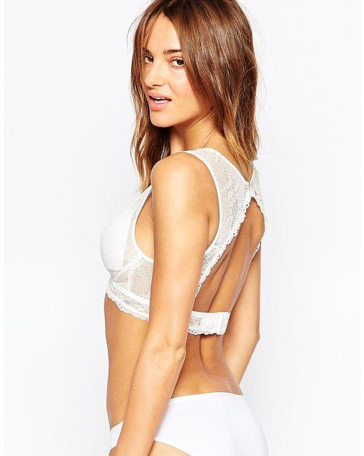 Fashion Forms   White Triangle Peekaboo Back Bridal Bra   Lyst
