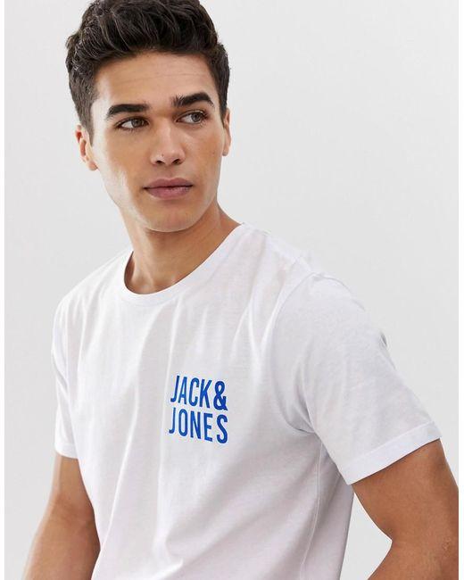 Jack & Jones White Logo T-shirt for men