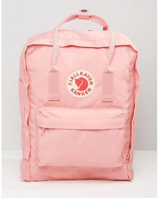 Fjallraven Classic Kanken In Pastel Pink in Pink