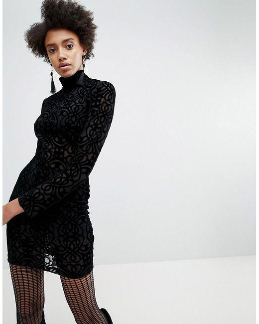 ASOS - Black X Star Wars Funnel Neck Burnout Dress - Lyst