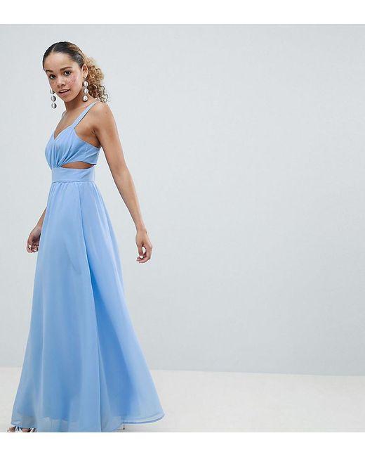 ad62bcbf0e5 ASOS - Blue Asos Design Petite Side Cut Out Maxi Dress With Cami Straps -  Lyst ...