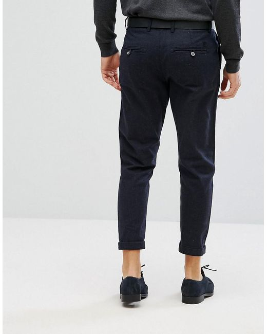 ... Jack & Jones | Blue Intelligence Pleated Trouser With Cropped Leg for  Men ...