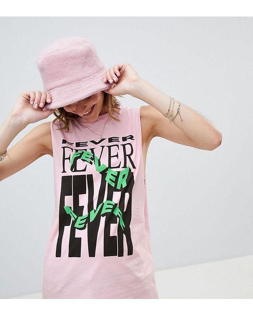 Reclaimed (vintage) - Pink Inspired Fever Print Drop Armhole Vest - Lyst