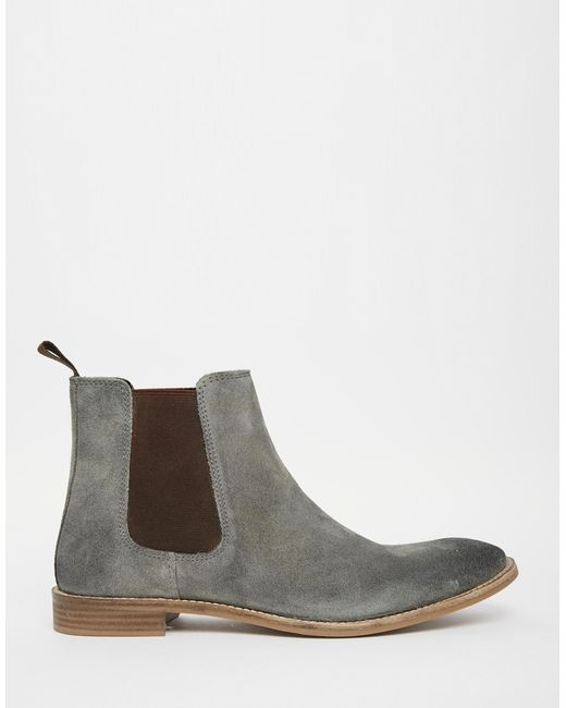 Model Shoes By Hudson Women39s Bronte Suede Heeled Chelsea Boots  Grey