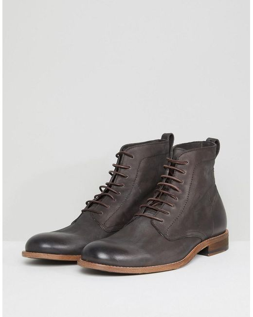 HUGO BOSS Varadero Lace Up Leather Boots in xWxAw7Y2L