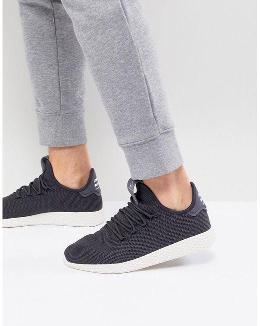 Adidas Originals - Gray X Pharrell Williams Tennis Hu Sneakers In Grey Cq2162 for Men - Lyst