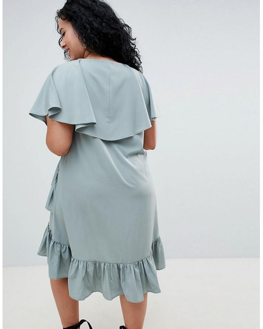 Discount Websites Latest Collections Online ASOS ASOS DESIGN Curve mini tea dress with cape back detail c7ZqBH