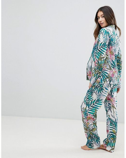Bright Floral 100% Modal Traditional Shirt & Trouser Pyjama Set - Multi Asos Maternity Cheap Sale Latest Collections For Cheap Sale Online High Quality For Sale v1kd1hr9