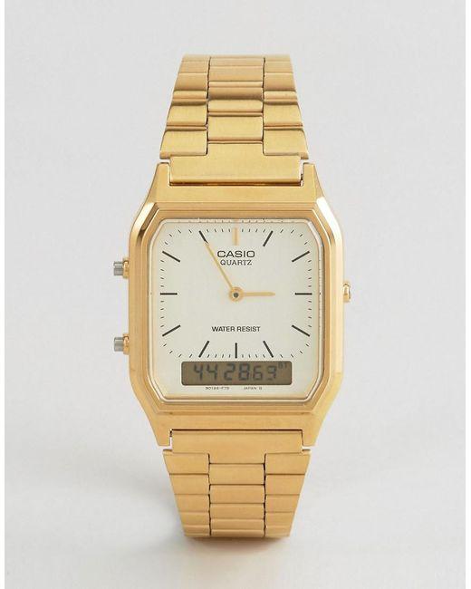 G-Shock - Metallic Aq-230ga-9dmqyes Digital Bracelet Watch - Lyst