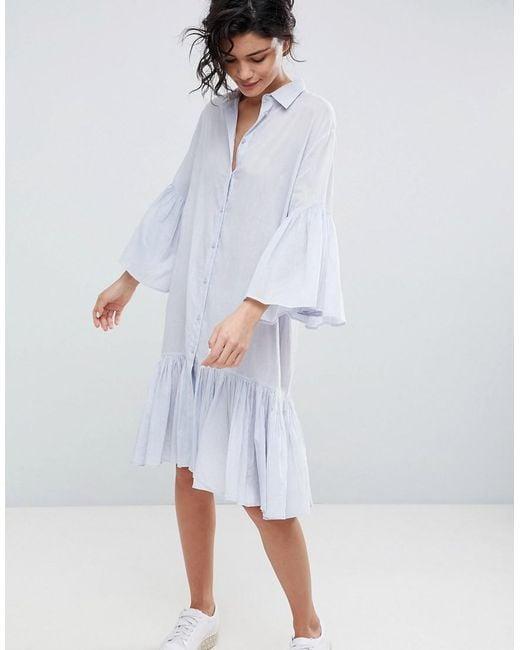 2nd Day - Blue 2ndday Cotton Shirt Dress - Lyst