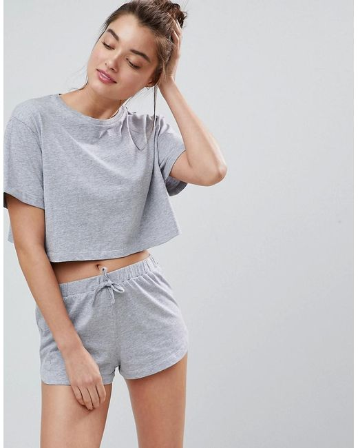 ASOS - Gray Mix & Match Pyjama Tee - Lyst