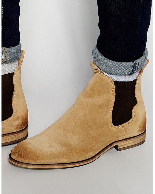 selected elected homme melvin suede chelsea boots in brown for men lyst. Black Bedroom Furniture Sets. Home Design Ideas