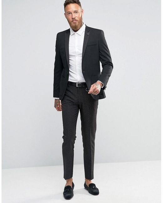 Black Skinny Suit Pants Dress Yy
