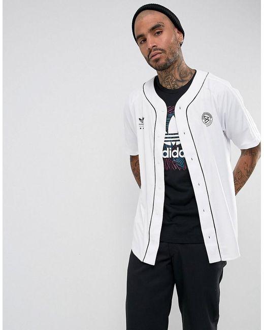 Adidas Originals | Baseball Shirt In White Br3983 for Men | Lyst