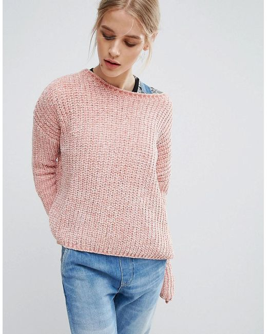 Pepe Jeans | Pink Chana Knit Sweater | Lyst
