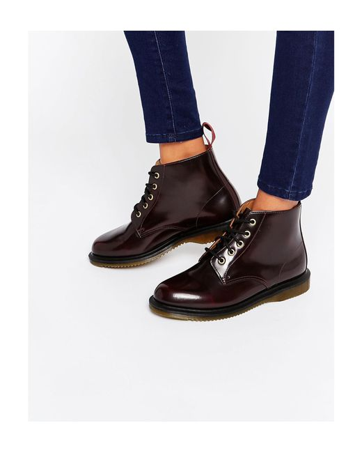 Dr. Martens   Red Kensington Emmeline 5-eye Cherry Boots - Cherry   Lyst