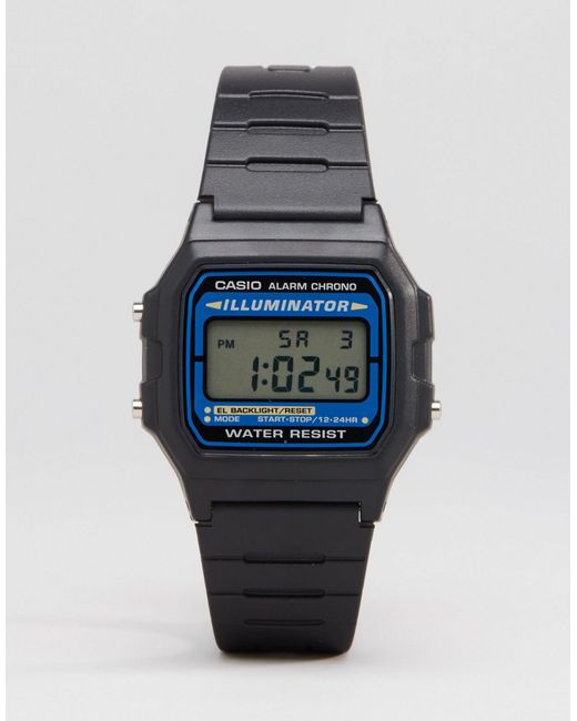 G-Shock | Digital Watch In Black F105w-1auz - Black for Men | Lyst