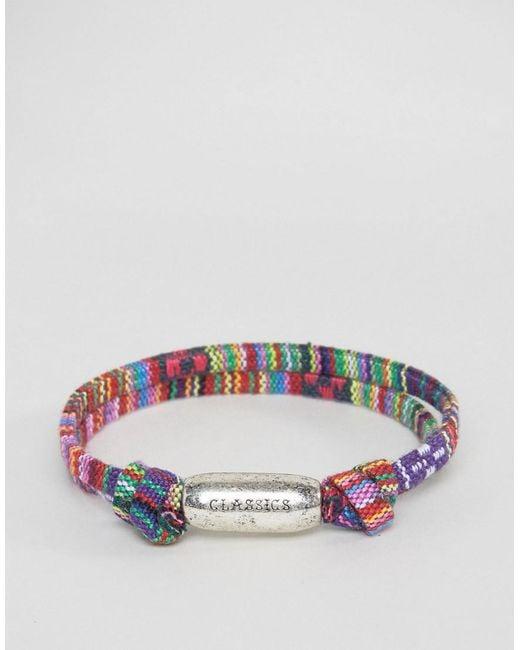 Classics 77   Multicolor Aztec Woven Bracelet   Lyst