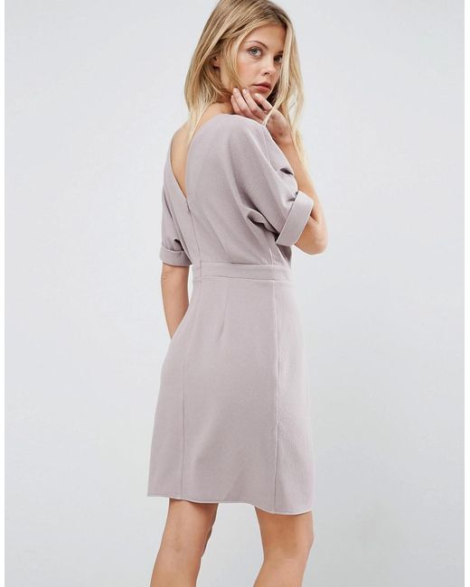 ASOS | Gray Mini Wiggle Dress | Lyst