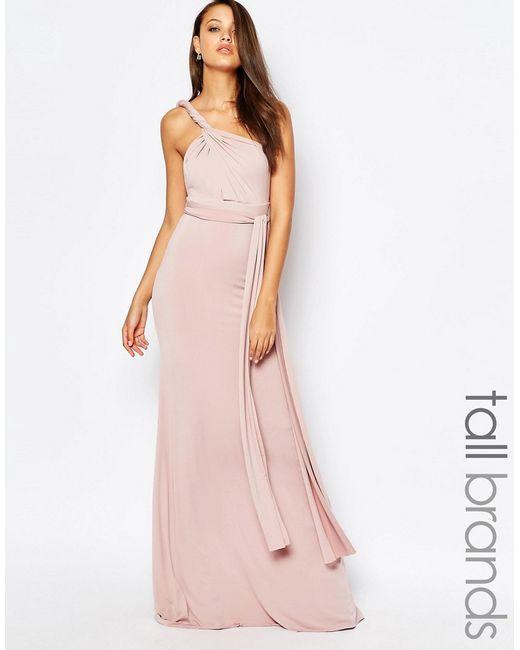 Tfnc london tfnctall wedding multiway maxi dress in pink for Tfnc wedding wrap maxi dress