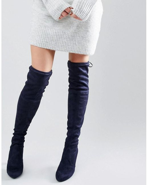 Carvela Kurt Geiger | Black Sammy Suede Over The Knee Boots | Lyst
