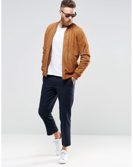 Tan Bomber Jacket Mens - Pl Jackets