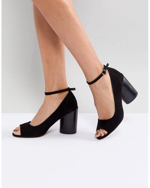 ASOS DESIGN - Black Asos Ornament Heeled Shoes - Lyst
