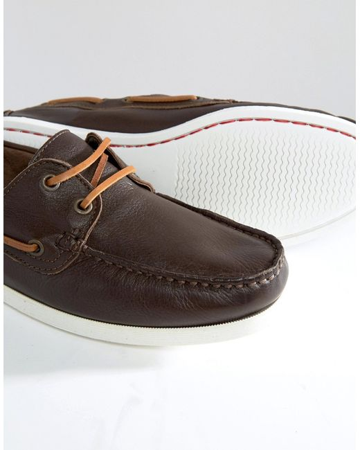 aldo damasus boat shoes brown in brown for lyst