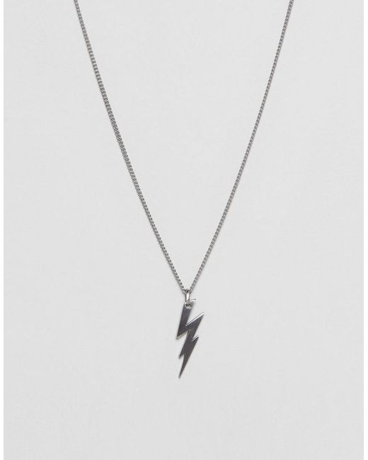 Lyst simon carter lightning bolt necklace in silver in metallic simon carter metallic lightning bolt necklace in silver for men lyst mozeypictures Image collections