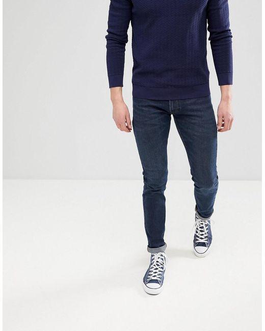 Lee Jeans - Jeans Luke Skinny Jeans In Dark Worn Blue for Men - Lyst ...