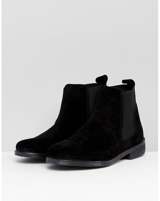Office Jamie Suede Flat Chelsea Boots