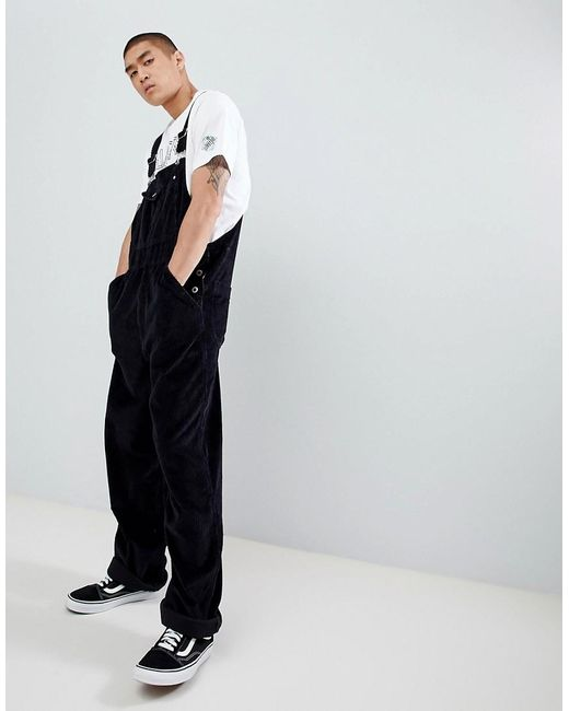 top-rated quality release info on novel style Men's Black Silvertab Cord Dungarees