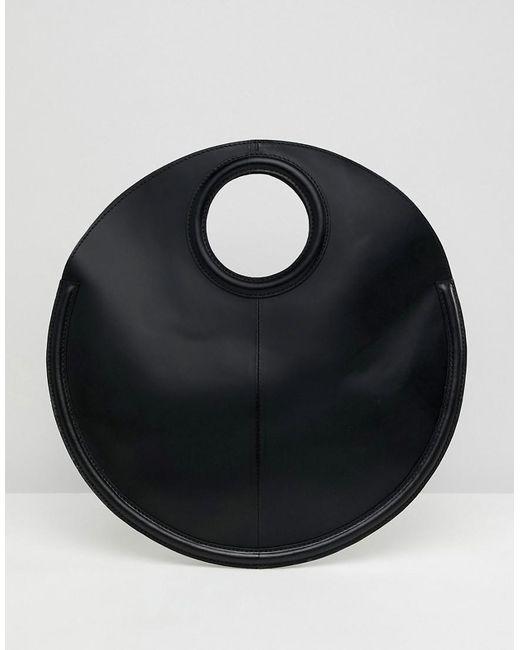 ASOS - Black Leather Circle Shopper Bag - Lyst