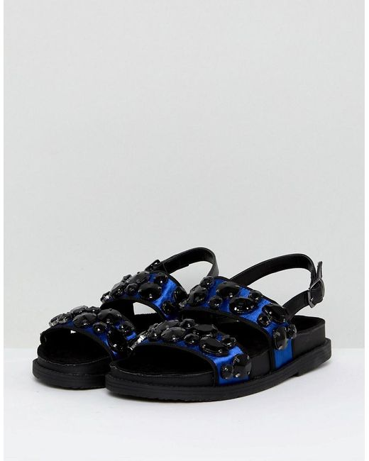 clearance prices FERRIS Embellished Flat Sandals original online JUqf83ntO0