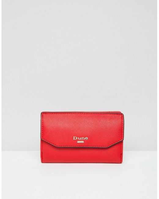 Dune - Red Foldover Purse - Lyst