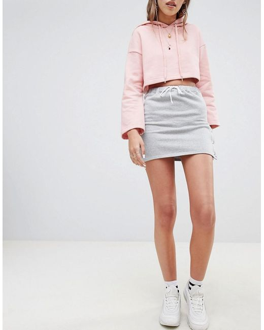 Daisy Street - Gray Skirt With Popper Sides - Lyst