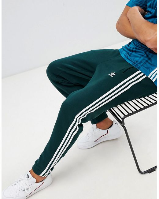 5bb99a842 Adidas Originals - Adicolor 3-stripe Joggers In Green Cx1898 for Men - Lyst  ...