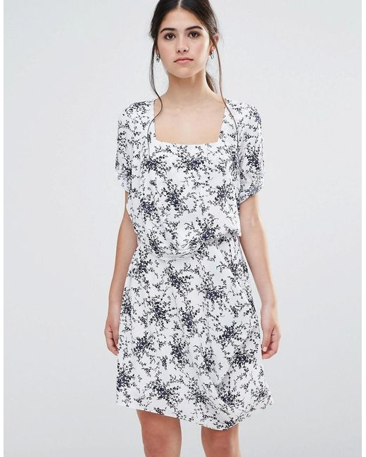 Traffic People   White Less Is Less Dress In Spring Floral Dress   Lyst