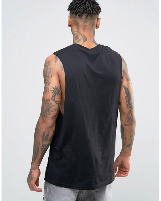 Asos oversized sleeveless t shirt with embroidered tiger for Asos design free t shirt